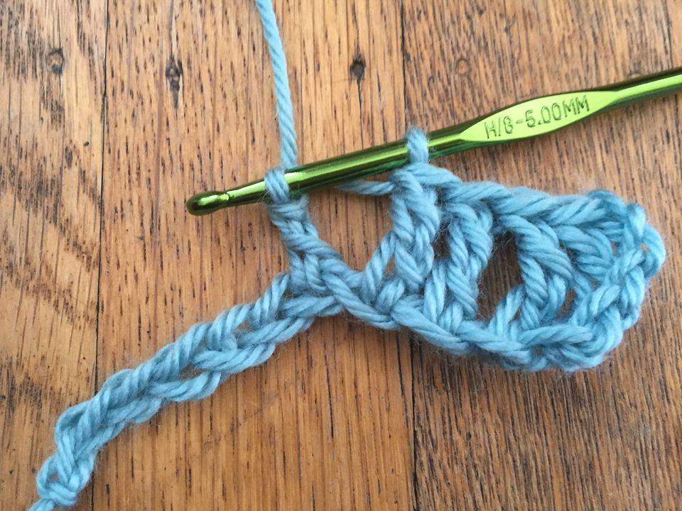 How to Treble Crochet: Yarn Over, Pull Through