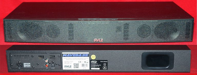 Pyle PSBV600BT Wave Base - Front and Rear View