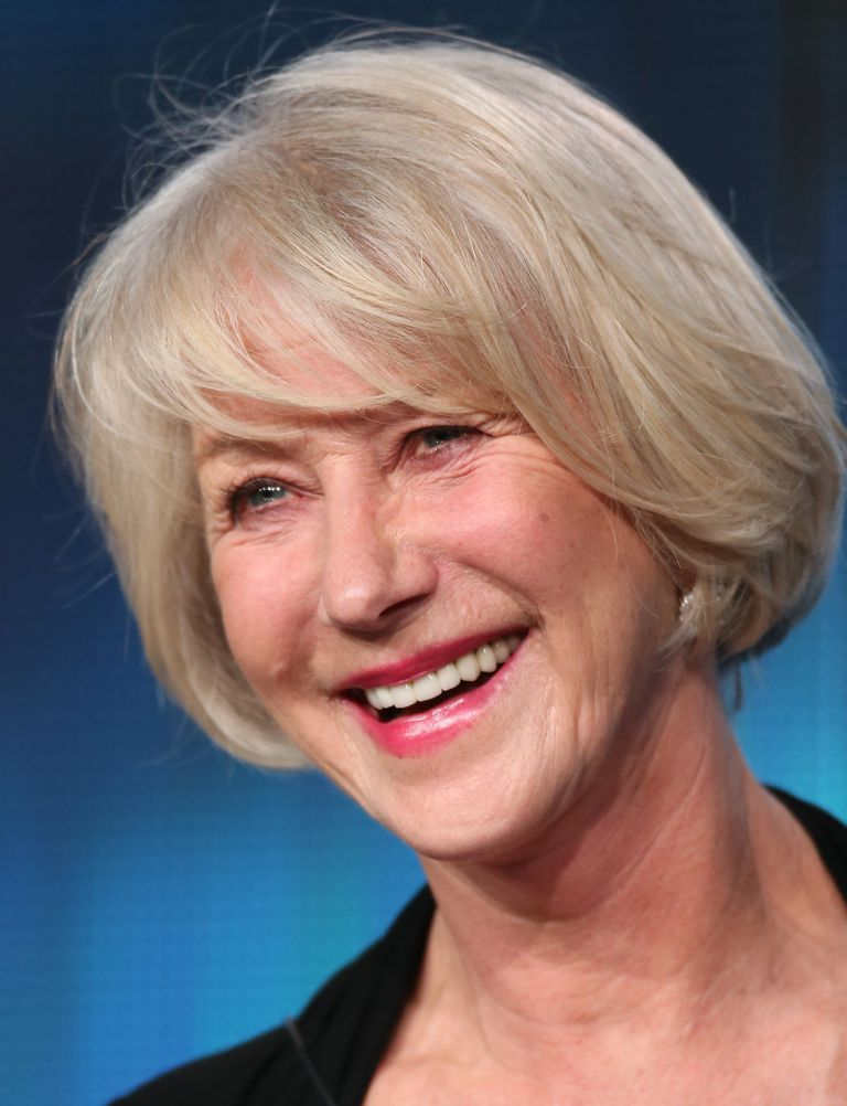 Photos of gorgeous gray hairstyles helen mirren goes blonde to mask her gray hair pmusecretfo Images