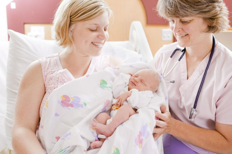 Mom, baby and nurse
