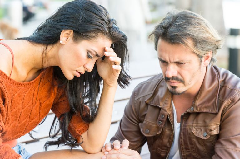 Very sad young couple