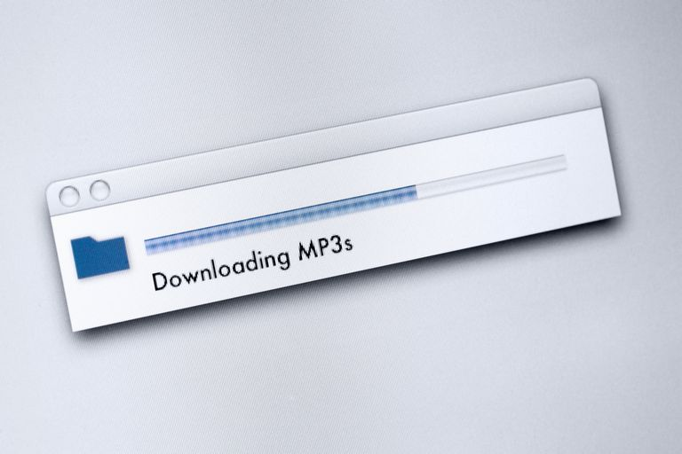 Downloading MP3s message on a computer screen