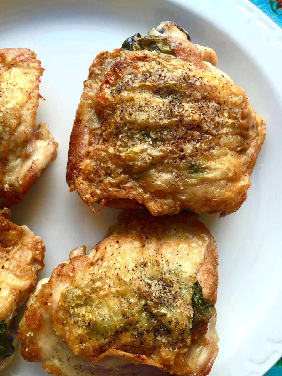Roasted Chicken Thighs With Fresh Basil