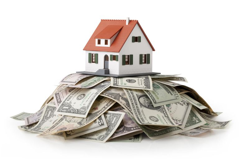 House on top of money pile
