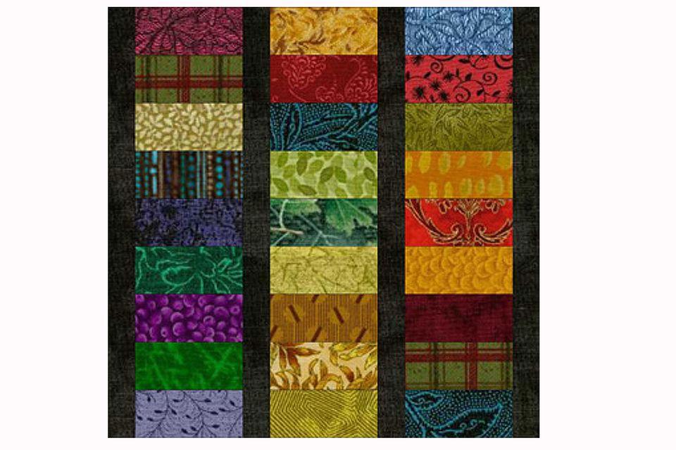 Roman Stripes An Easy Scrap Quilt Block Pattern