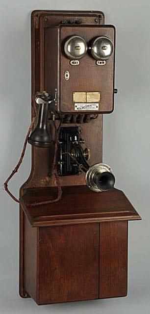 Walnut Two Box Antique Telephone Made by The The Williams Electric Co., Ca. 1900, Sold at Morphy Auctions in June, 2012 for $360
