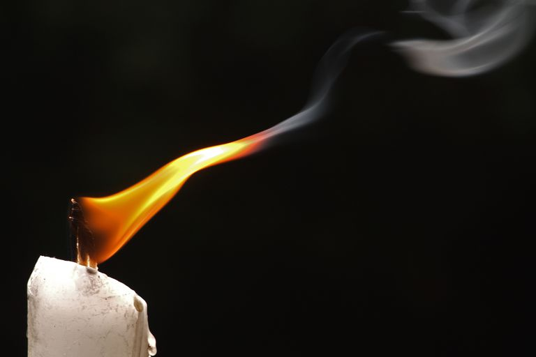 When you burn a candle, the wax is oxidized.