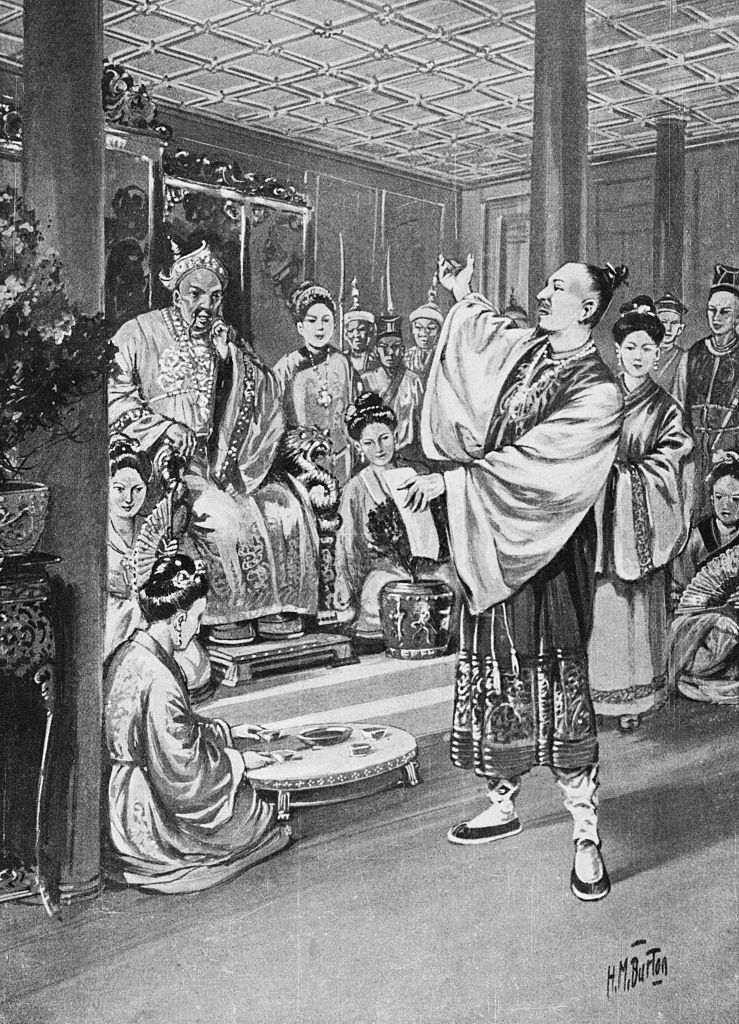 Li Po Reciting for the Emperor based on a painting by H.M. Burton