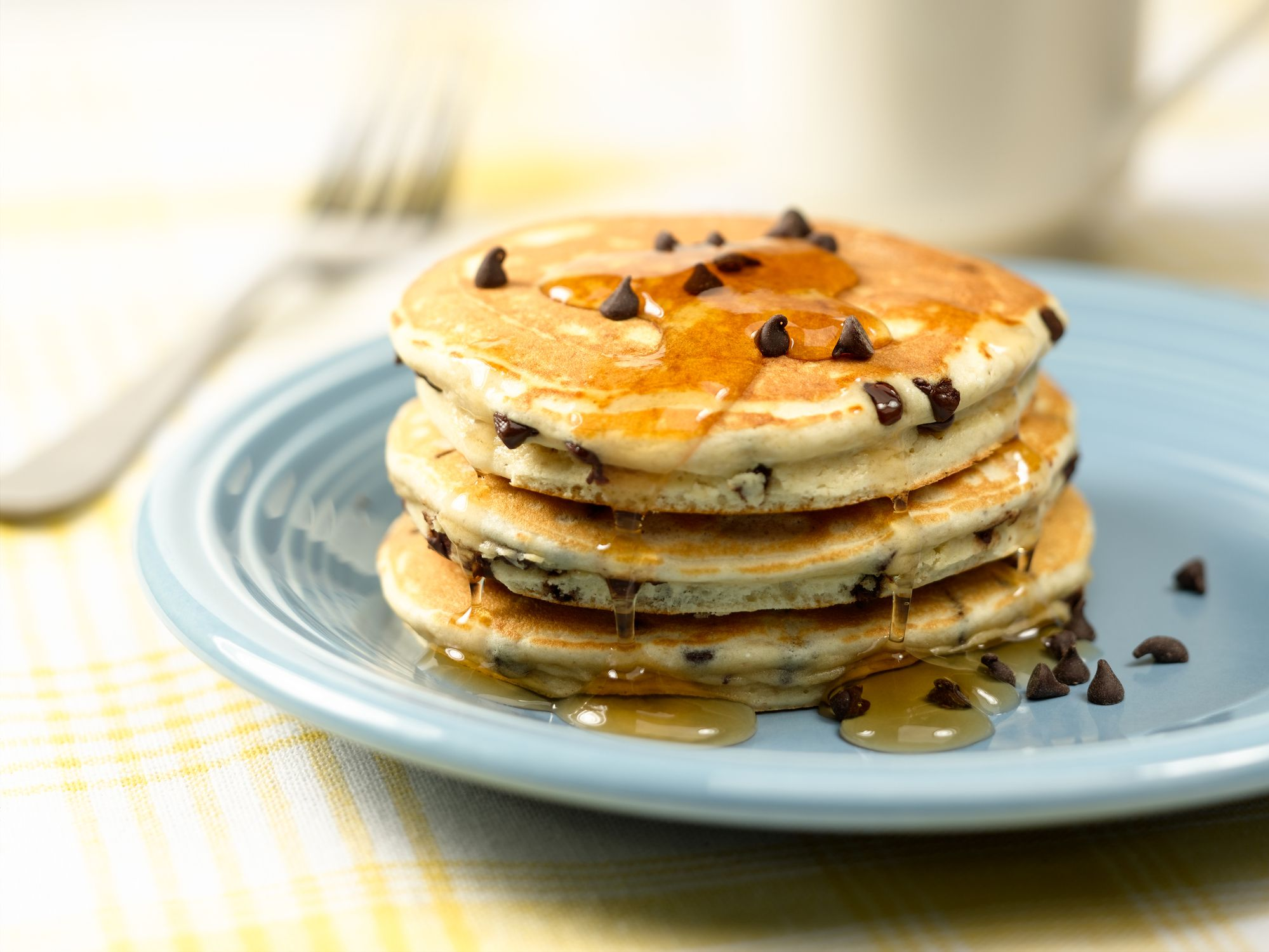 Chocolate chip pancakes recipe how to make dairy free chocolate chip pancakes ccuart Choice Image