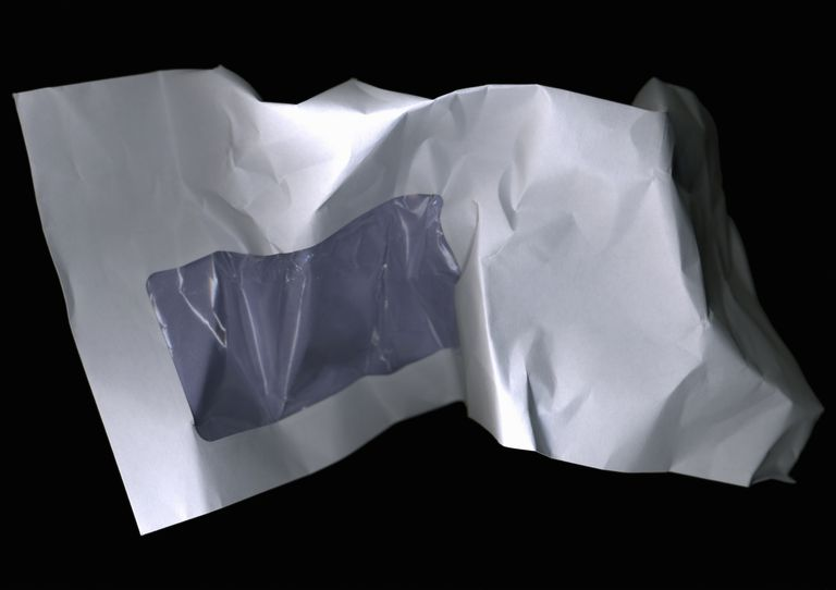 Crumpled envelope