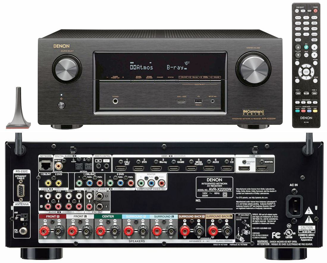 denon avr x1200w and avr x2200w in command receivers. Black Bedroom Furniture Sets. Home Design Ideas