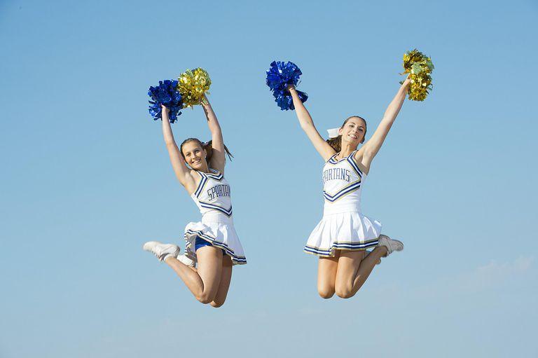Cheerleaders skyward