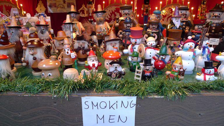 Hand carved smoking men