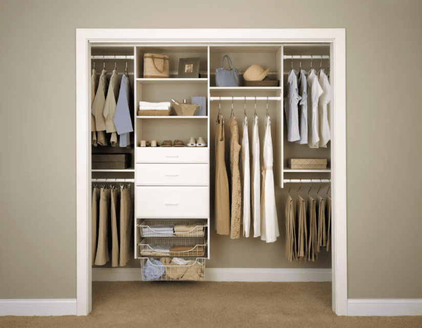 storage p ft closet decor for depot in closets kit home organizer impressions to canada en rack wide the deluxe and organization categories