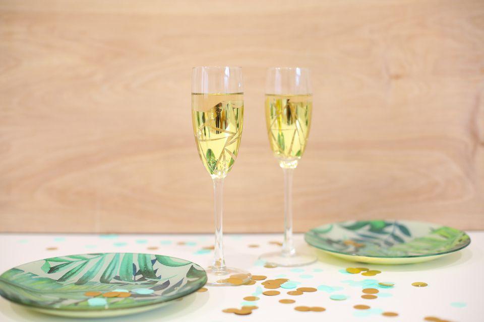 fun champagne flutes