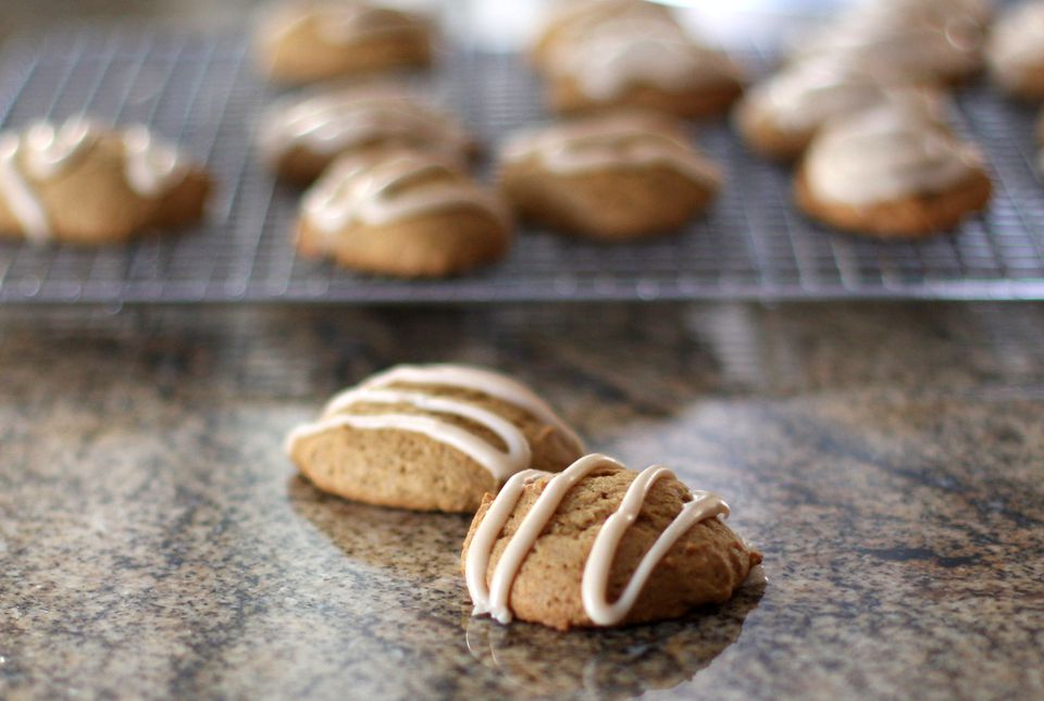 Soft Pumpkin Cookies With Brown Butter Icing