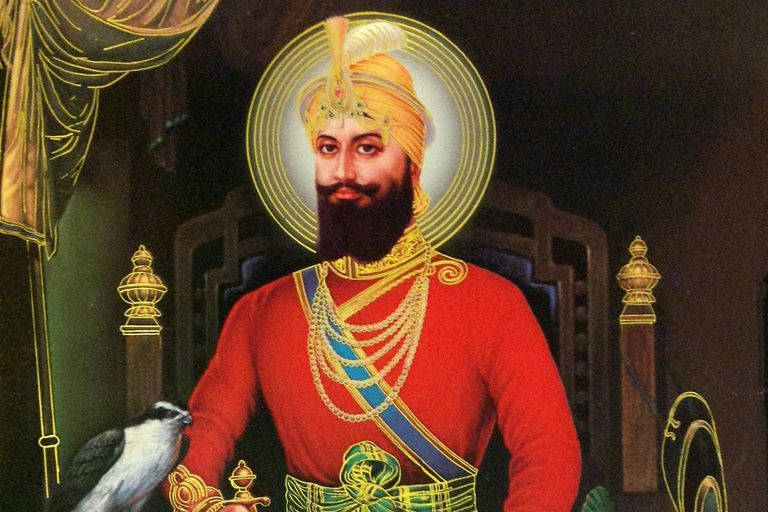 Maharajah Guru Gobind Singh at his throne
