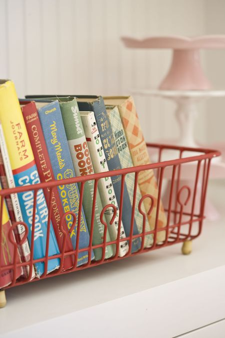 How to store cookbooks in kitchen