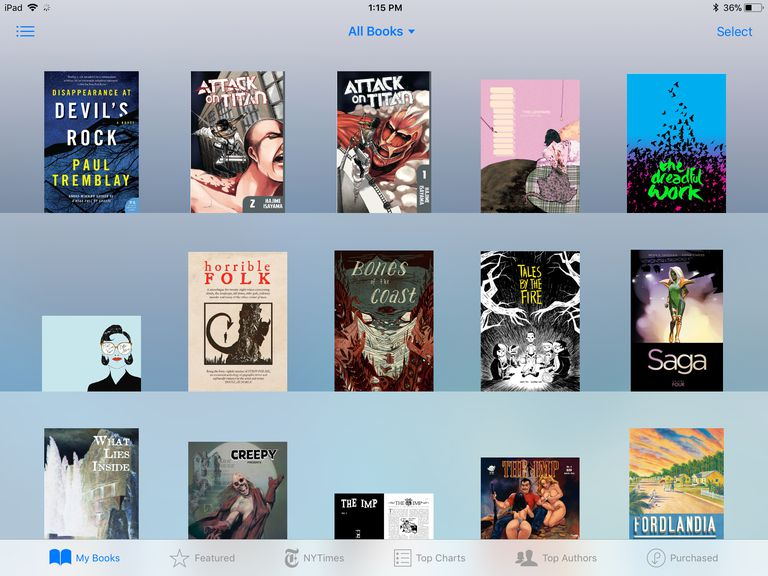 using iBooks store, step 1