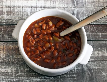 Crock Pot Baked Beans Recipe With Salt Pork Or Bacon