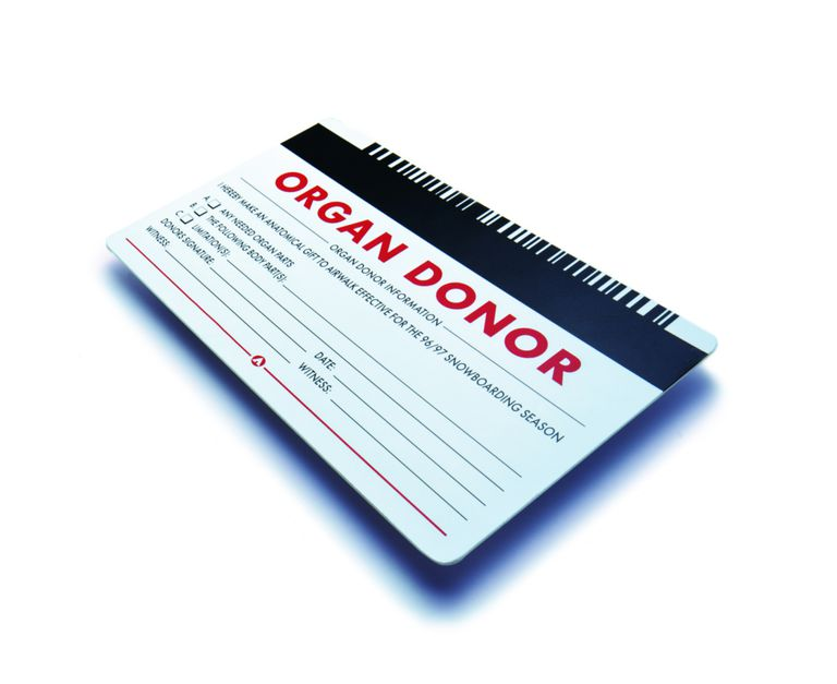 organ donor card for someone with hepatitis