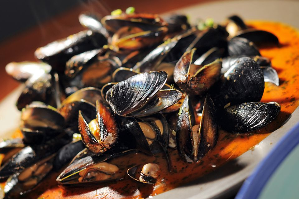 Fresh Mussels, Red Thai Curry Sauce