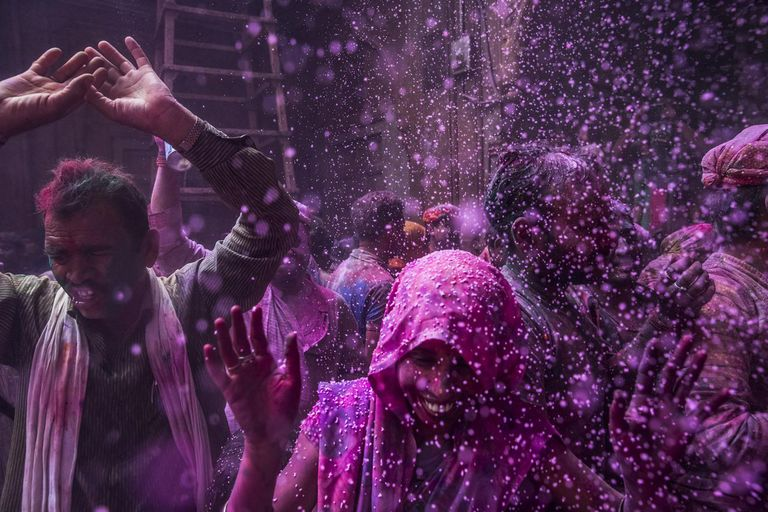 Hindus Celebrate Holi In India