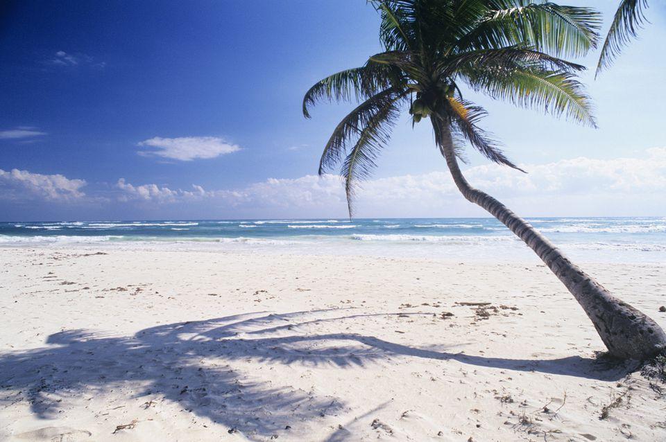 White sand beach at Tulum