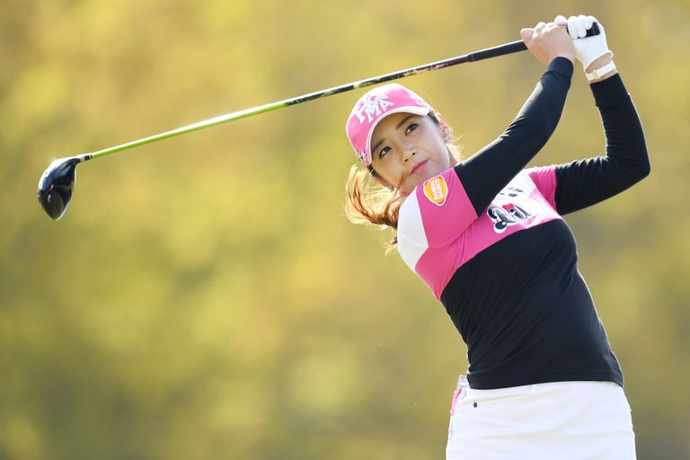 Golfer Bo-Mee Lee of South Korea