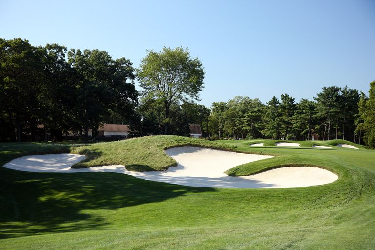 A view of the 13th hole at Bethpage Black