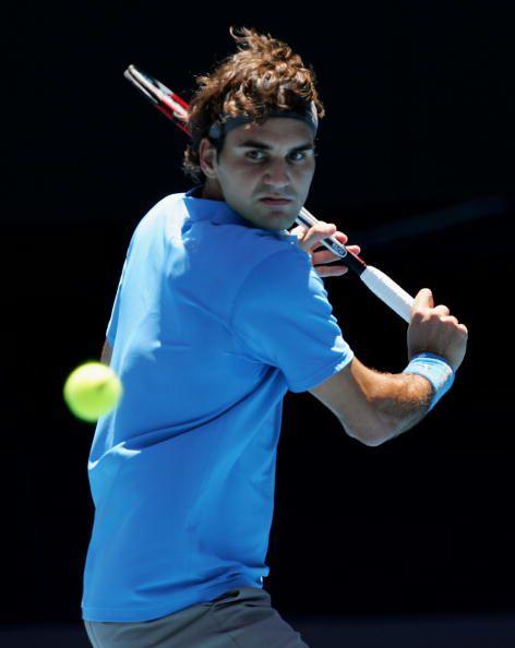 Roger Federer's Backhand Grip and Top of Backswing