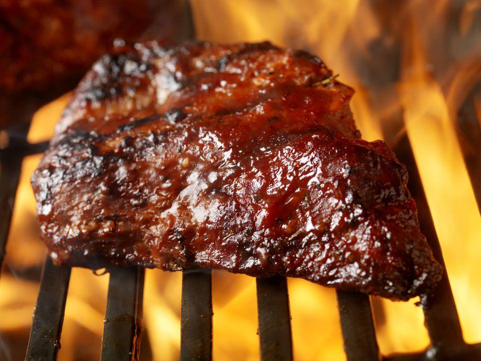 Brisket on the barbecue