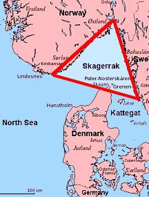 Location of the Skagerrak