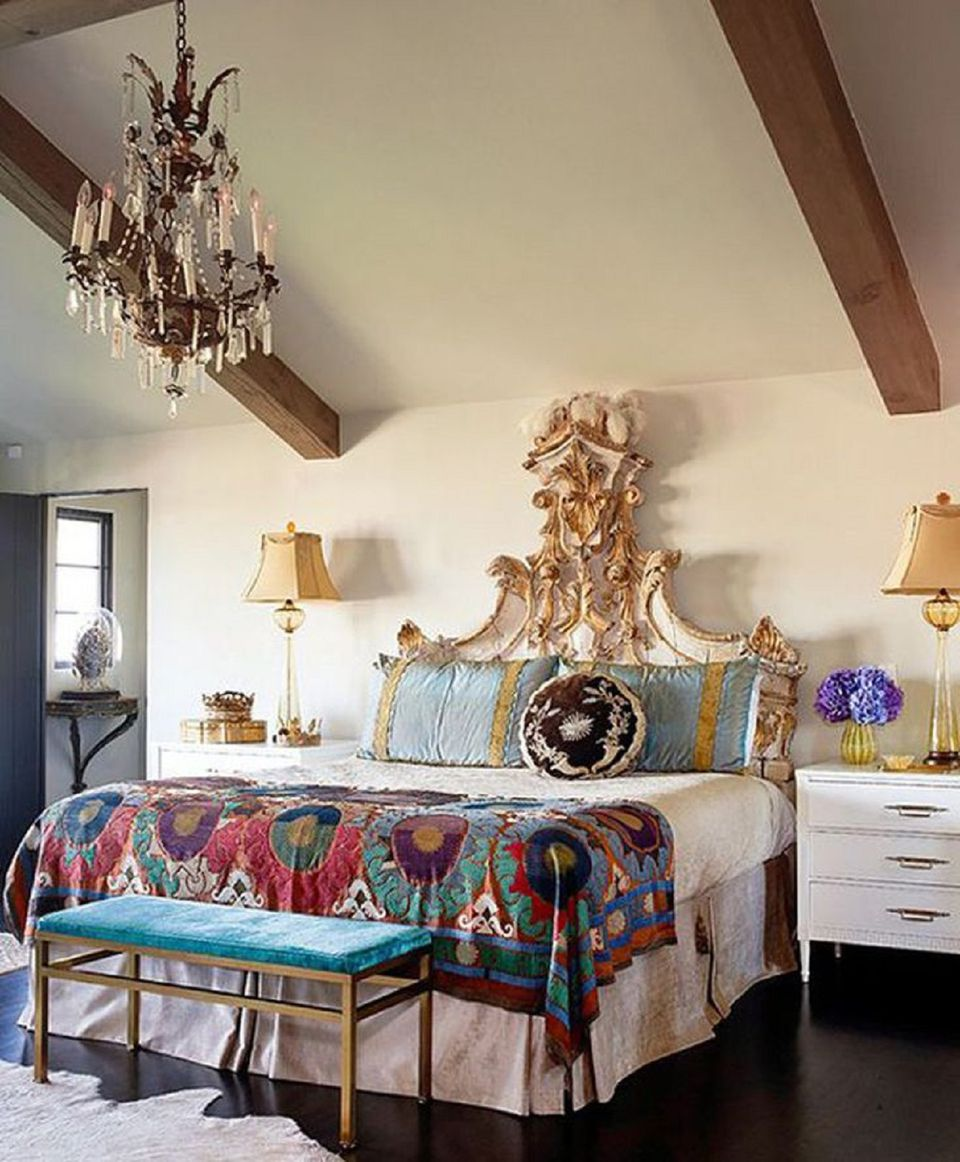 Antiques In A Boho Bedroom