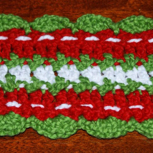 Detail of the Crochet Christmas Scarf