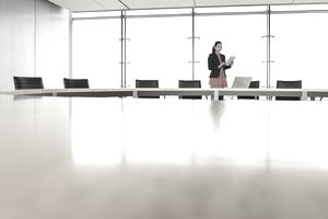 Woman in business office