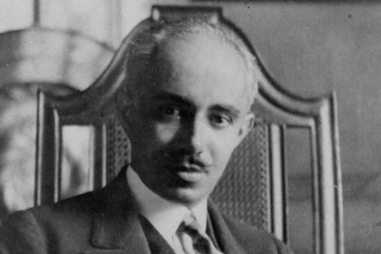 Historic black and white photo of black architect Julian Abele, early 20th century