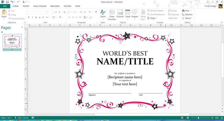 Mothers day templates for microsoft office mothers day award certificate template or microsoft publisher or word yadclub Images