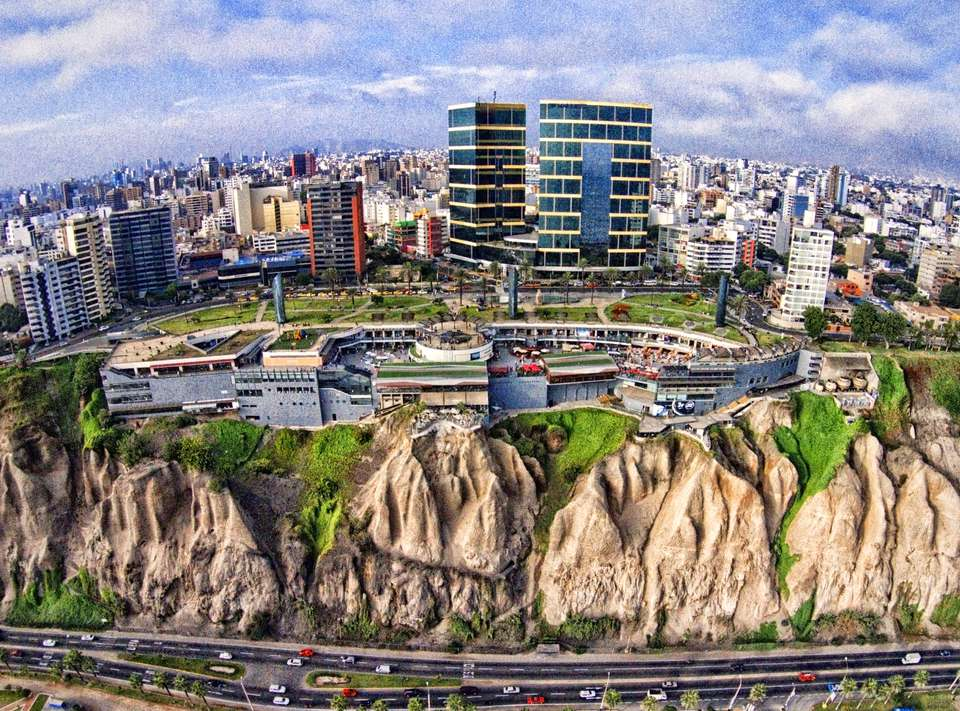 An aerial view of Lima Peru