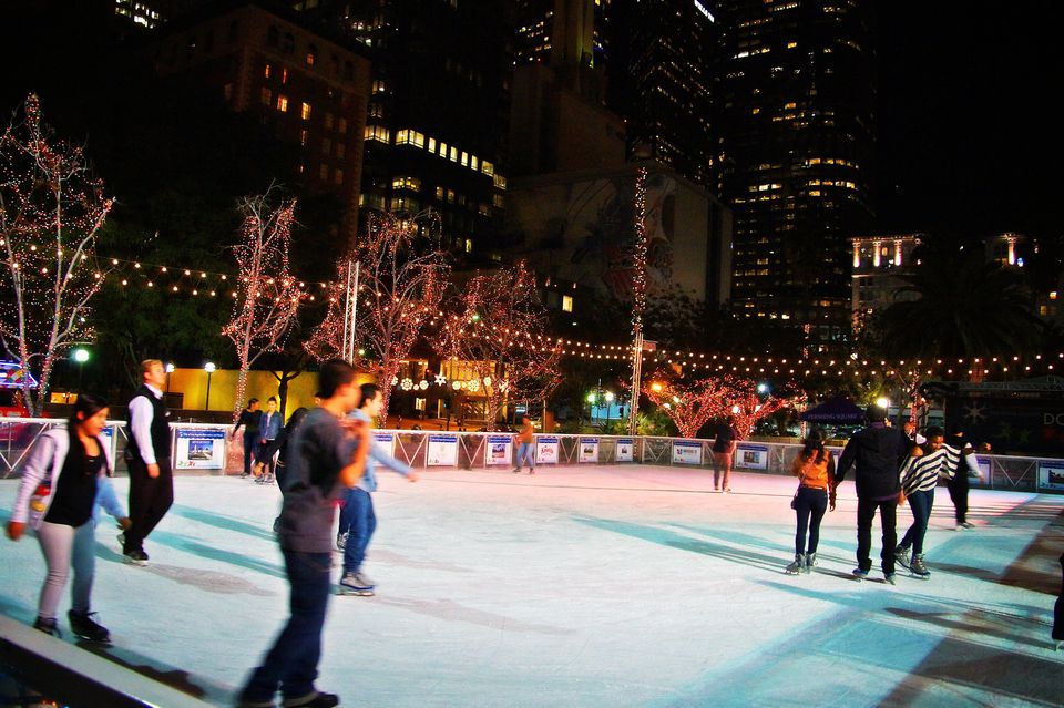 Downtown on Ice at Pershing Square in Los Angeles