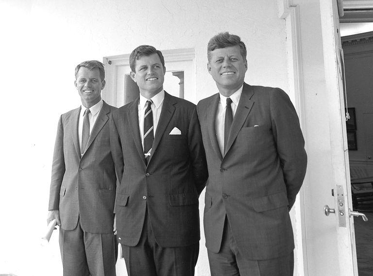 Kennedy's outside Oval Office