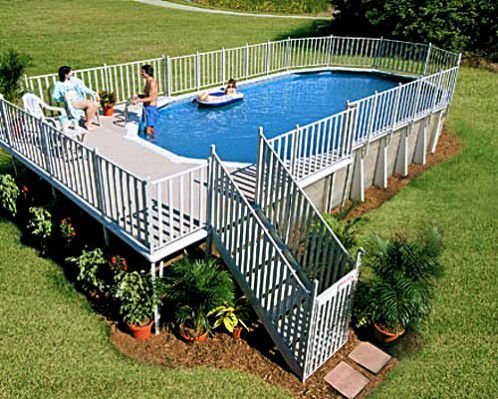an above ground pool design - Above Ground Pool Deck
