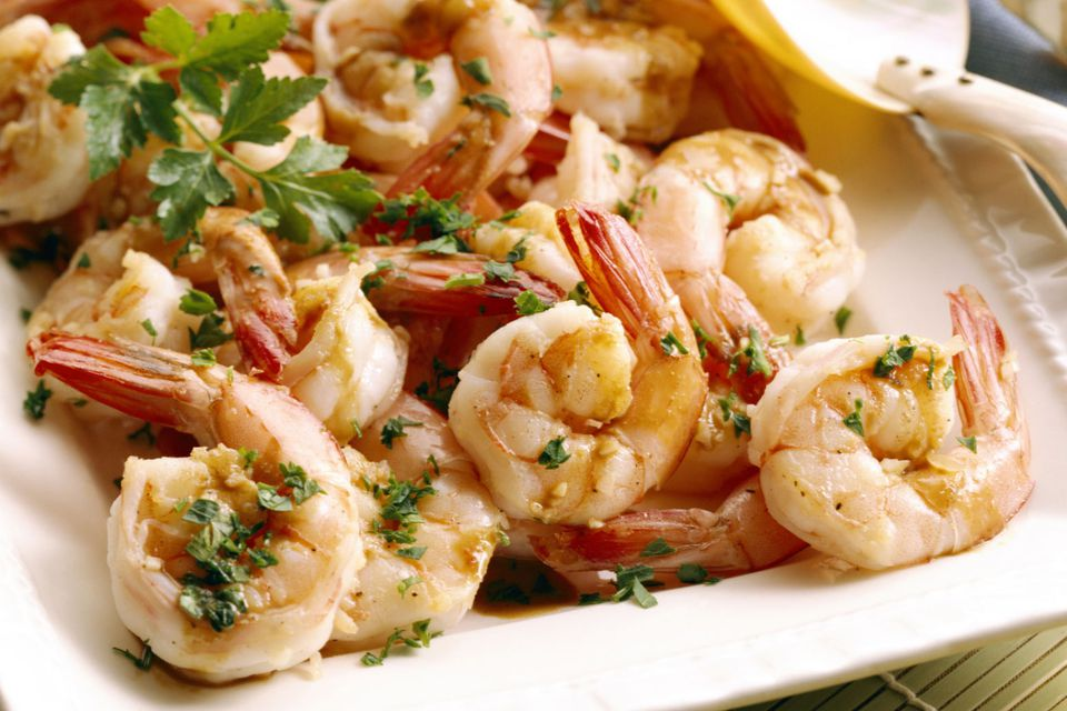 Shrimp with Scampi Sauce