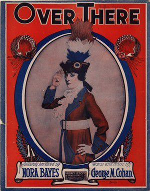 Picture of sheet music for 'Over There' by George M. Cohan.