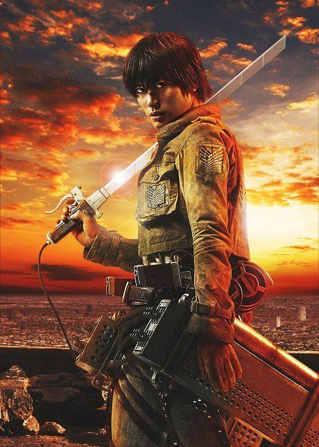 Miura Haruma as Eren in the Live Action Attack on Titan Movie