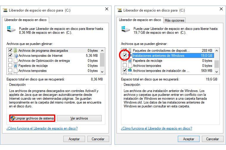 Borrar Windows.old en Windows 10