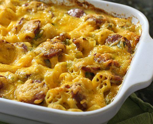 Andouille Macaroni and Cheese