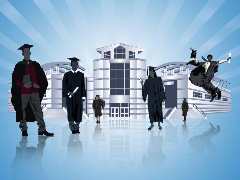 college graduates building