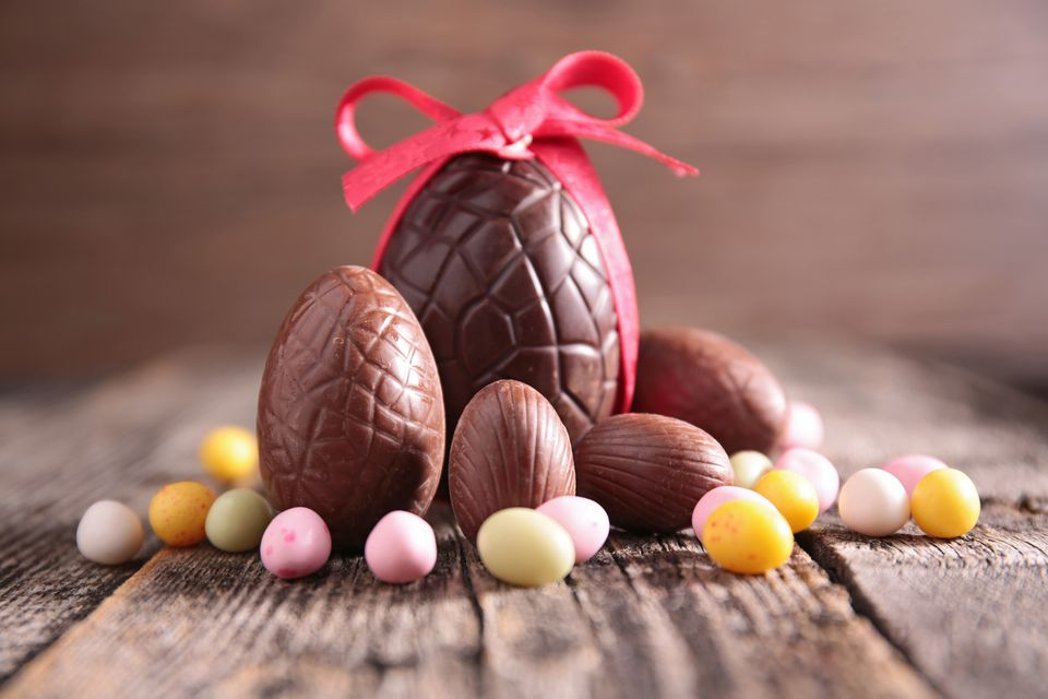 Solid Chocolate Easter Eggs
