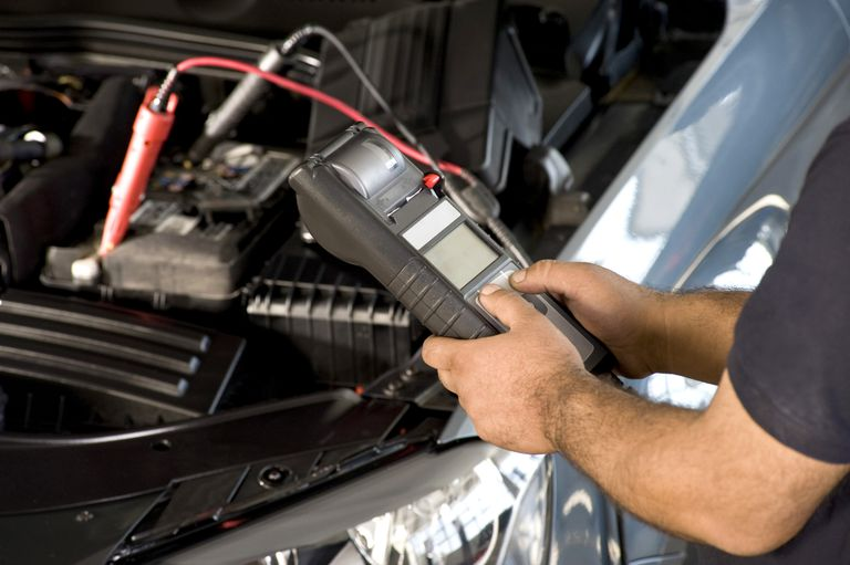 checking a car battery